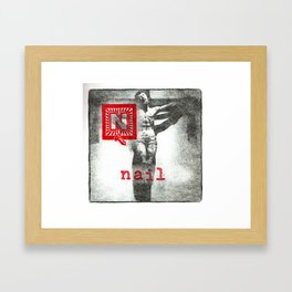 N is for nail Framed Art Print