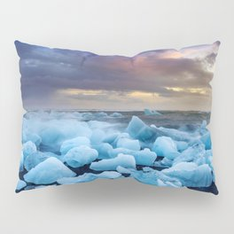 The Blue Crush Iceland Pillow Sham