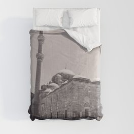 Istanbul mosque photo, black & white fine art, Turkey photography, Middle East Comforters