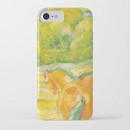 """Franz Marc """"Large Landscape I (Landschaft I)"""" iPhone Case"""