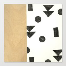 Black and white shapes Canvas Print