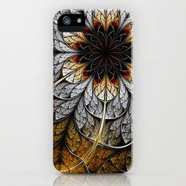 Flower II - Abstract Fractal Artwork iPhone Case