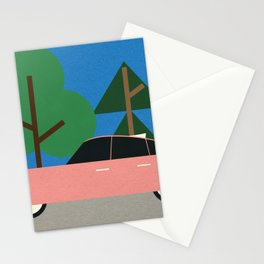 Old School Future Car Stationery Cards