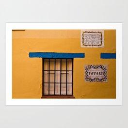 Yellow Wall Art Print