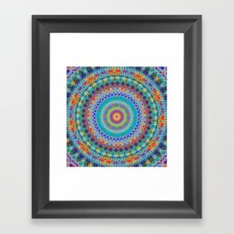 Boho City Mandala Framed Art Print