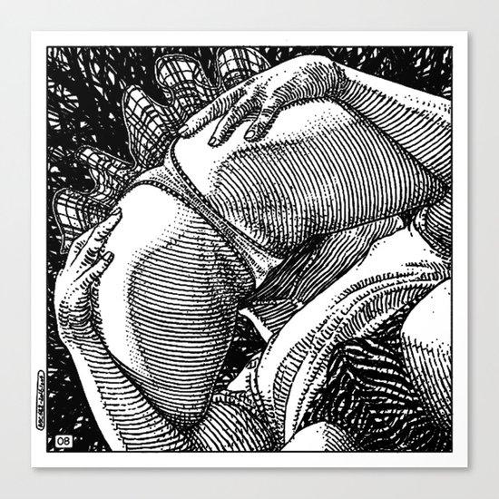 asc 682 - Les rendez-vous du crépuscule (Visitors in the twilight) #08 Canvas Print