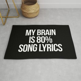 Song Lyrics Funny Quote Rug