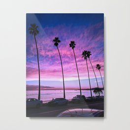 Butterfly Beach Palms At Sunset Metal Print