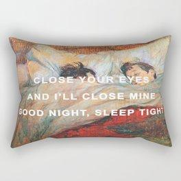 Good Night/The Bed Rectangular Pillow