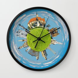 cluj napoca little planet Wall Clock