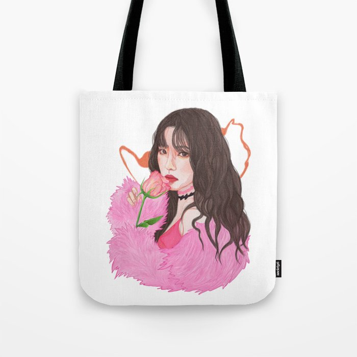 Irene Red Velvet Bad Boy Tote Bag By Kurisuart Society6