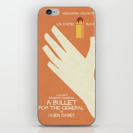 A Bullet for the General, Movie with Klaus Kinski, Gian Maria Volonté. Spaghetti Western Poster iPhone Skin