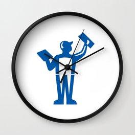 Plasterer Masonry Trowel Rear View Retro Wall Clock