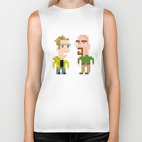 jesse pinkman Biker Tanks featuring Mr White & Jesse Pinkman by HypersVE
