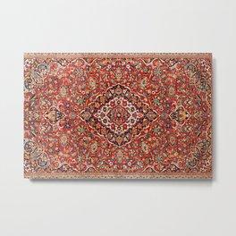Kashan  Antique Central Persian Rug Print Metal Print