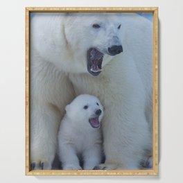 Bear polar cub Serving Tray