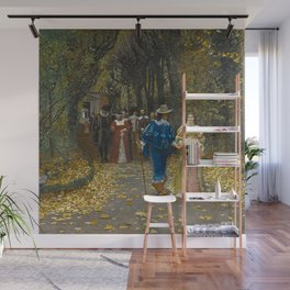 The Lovers (Les Fiances) amazing Versailles Palace landscape painting by Firmin Girard Wall Mural