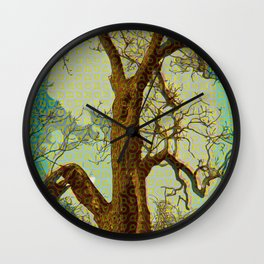 Spirit of the Wind; Green. Wall Clock