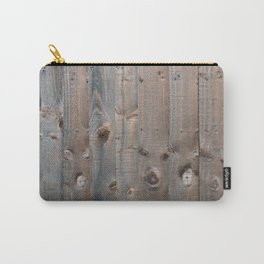 Brown Wooden Fence Carry-All Pouch