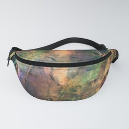 Mysterious Aviator: a colorful abstract piece in browns, blues and gold by KKingCreations Fanny Pack
