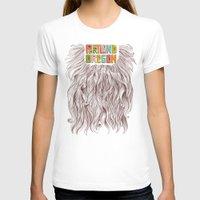 portland T-shirts featuring Portland = Beards by Rachel Caldwell