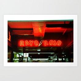 Rayo Rojo Art Print