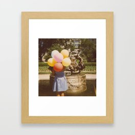 What Color is Your Balloon? Framed Art Print