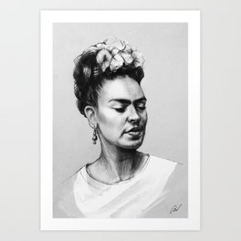 Portrait of Frida Kahlo Art Print