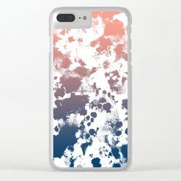 Ombre fade tie dye pastel trendy color way throwback retro palette 80s 90s style Clear iPhone Case