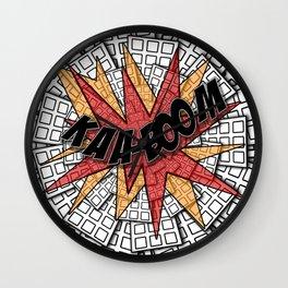 KAA-BOOM Wall Clock