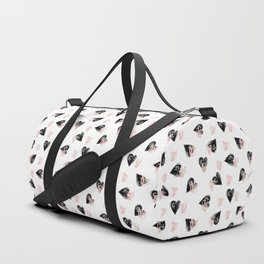 Valentine Love Heart Pattern -  Mix & Match with Simplicty of life Duffle Bag