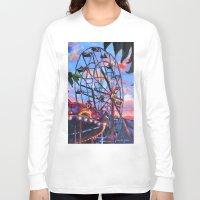 ferris wheel Long Sleeve T-shirts featuring Ferris Wheel by Juliette Caron