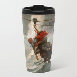 The Life Line by Winslow Homer, 1884 Travel Mug