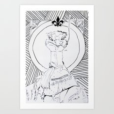 Archiduchesse Anne d'Autruche Art Print