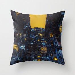 Ghost In The Shell Vibes / Liam Wong / Hong Kong Cyberpunk Throw Pillow
