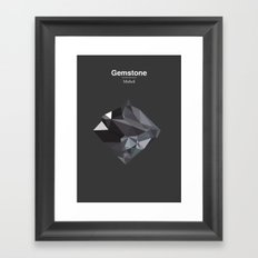 Gemstone - Mithril Framed Art Print
