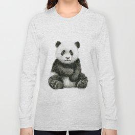 Panda Baby Watercolor Long Sleeve T-shirt