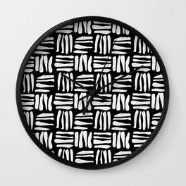 Banana Basket Black Wall Clock