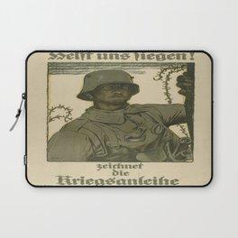 Vintage poster - German propaganda Laptop Sleeve
