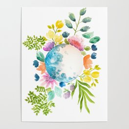 Moon in Bloom Poster