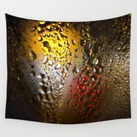 world cup Wall Tapestries featuring Condensation 74 - FIFA World Cup Trophy Abstract by PRE Media