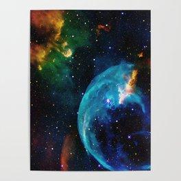 Blue Bubble Poster