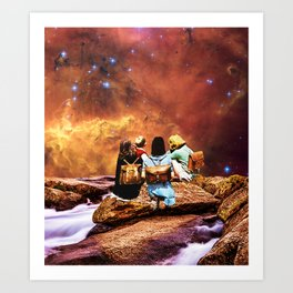 Children of the universe Art Print