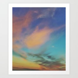 Acidic Sky Art Print