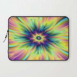Combustion in Yellow Turquoise and Blue Laptop Sleeve
