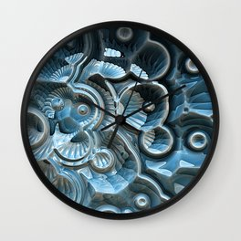 Reflections of A Fractal Fossil Wall Clock