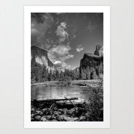 Merced River Under El Capitan, Yosemite Valley, October 2010 Art Print