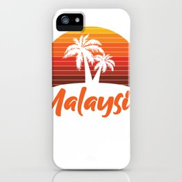 Sunset In Malaysia iPhone Case