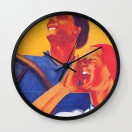 We are the future - Soviet union propaganda poster  Wall Clock