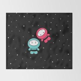 Spaceboy and Spacegirl Throw Blanket